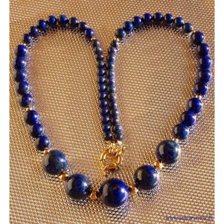 """Collier Lapis Lazuli et Or Plaqué """"Intuitif"""""""