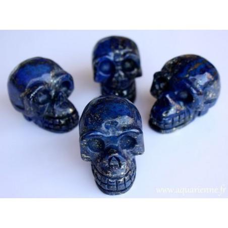 Crâne de Cristal en Lapis-Lazuli