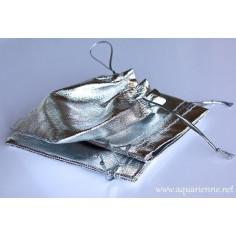 Pochette cadeaux textile argent