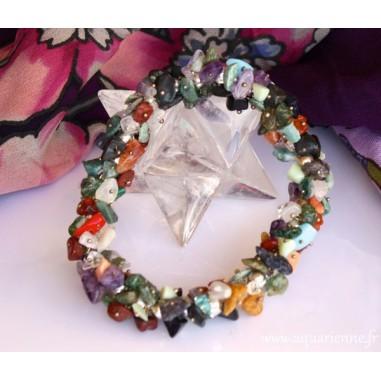 Bracelet chips multi pierres