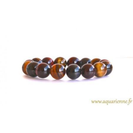 Bracelet Boules Œil de Tigre, de Faucon et de Taureau Haute Protection
