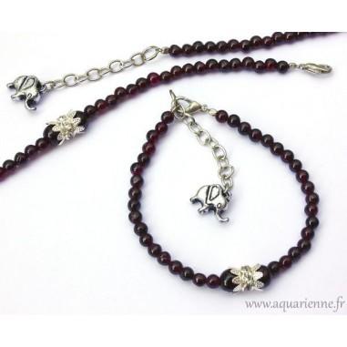 "Bracelet Grenat rouge ""Maharani"""