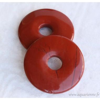 Donut/Disque Pi en Jaspe rouge 50mm