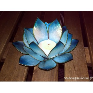 Bougeoir Lotus Turquoise