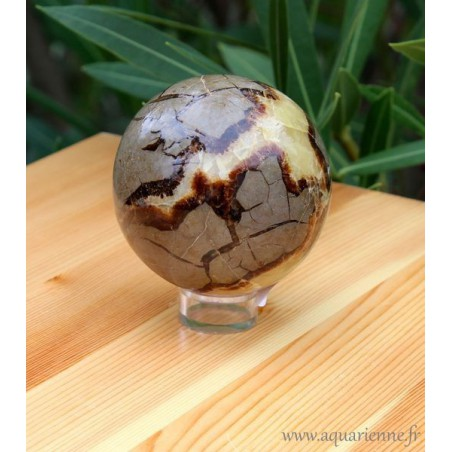 Sphère en Septaria de Madagascar (diamètre 6,6 cm)
