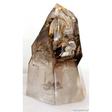 Quartz Fumé Sceptre fantôme à inclusions de 1,830 kg