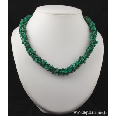 Collier Tresse en Malachite