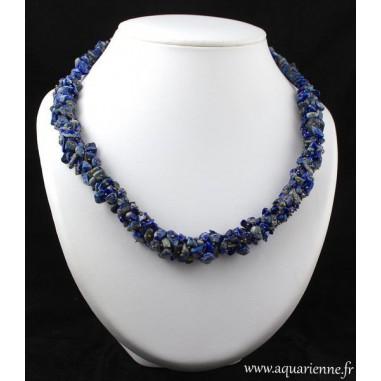 Collier Tresse en Lapis-Lazuli