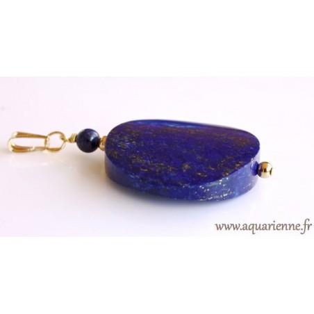 """Pendentif Lapis-Lazuli et Or Plaqué """"Ciel Étoilé"""""""