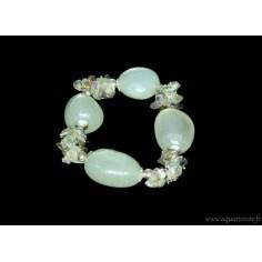 Bracelet Aventurine Vert Clair et Fluorite