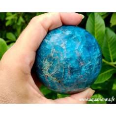 Sphère Apatite Bleue de Madagascar (72 mm)