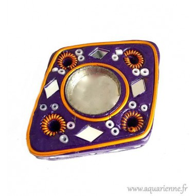Porte encens losange violet