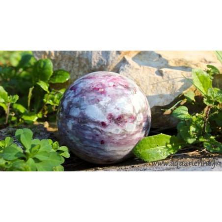 Sphère Tourmaline rose dans Quartz