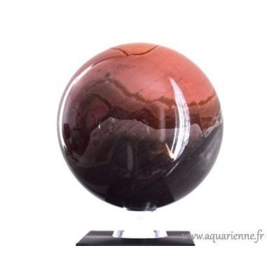 Sphère en Jaspe Polychrome de Madagascar 9,5cm