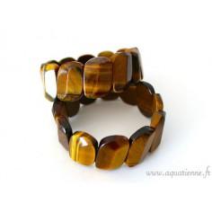 Bracelet Oeil de Tigre plaquettes oblongues