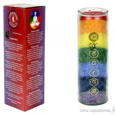 Bougie 7 chakras aux huiles essentielles