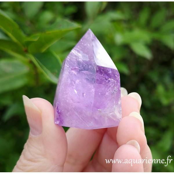 goutte en cristal de quartz l/'améthyste naturelles pierre polie à au goutte