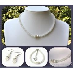 Parure bijoux Maharani en Pierre de Lune