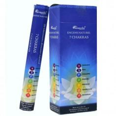 Encens 7 chakras Aromatika boîte hexagonale 20 bâtonnets