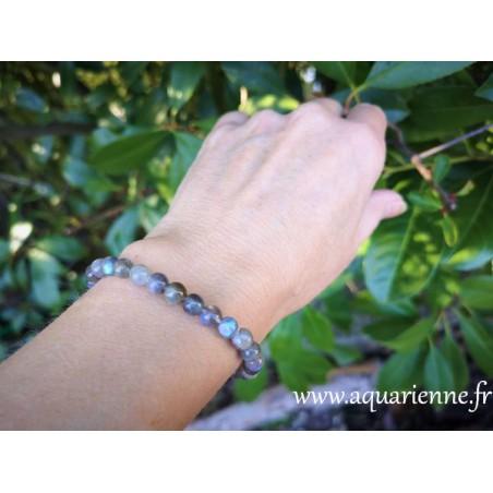 Bracelet pierres boules de Labradorite