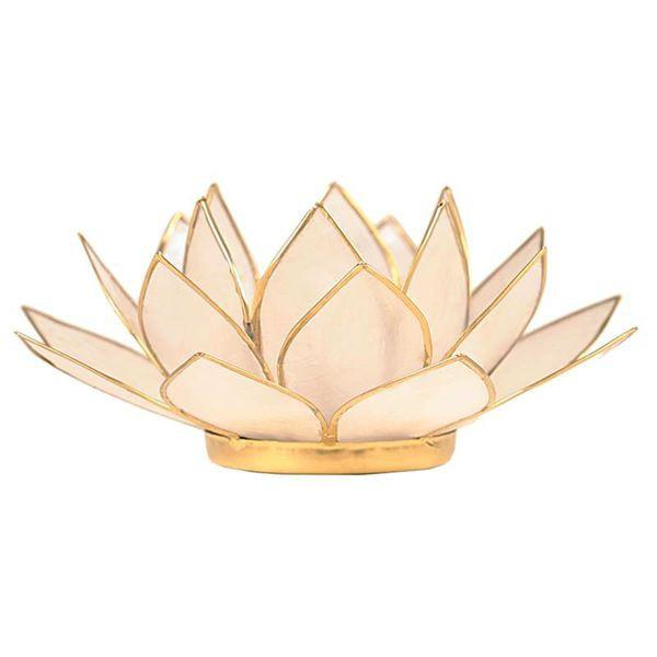 Photophore Lotus en coquille de Capiz...