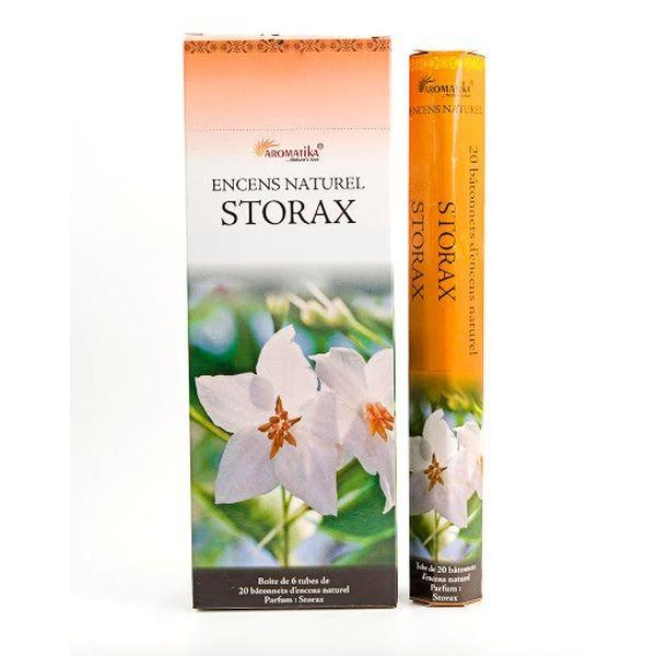 Encens Aromatika Storax - Boîte Hexa de 20 sticks