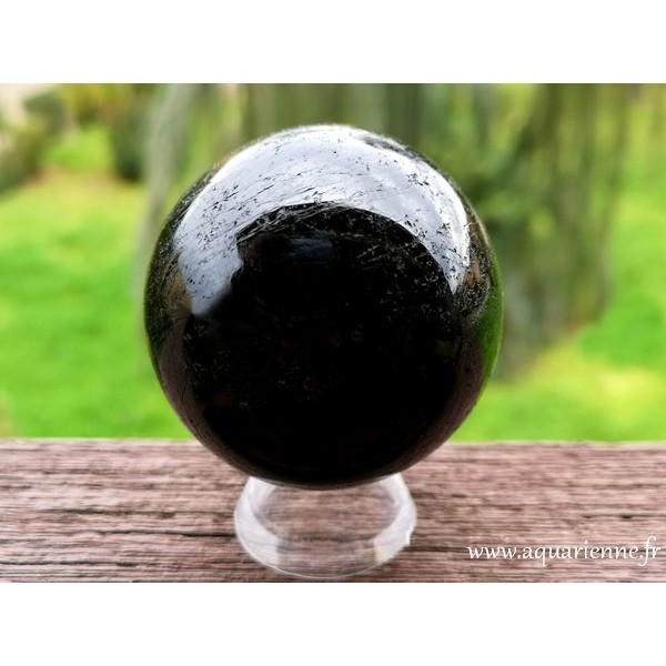 Sphère en Tourmaline noire de Madagascar -  ø 55mm