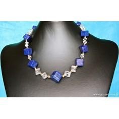 """Collier Lapis-Lazuli, Cristal de Roche et Or Plaqué """"Cosmique"""""""
