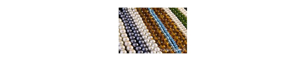 colliers mineraux perles rondes