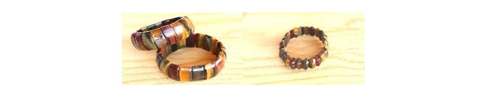 Bracelets en pierres naturelles polies de différentes formes